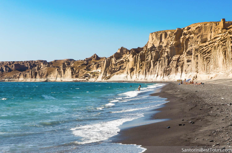Santorini beaches - Vlychada, the moon shape beach