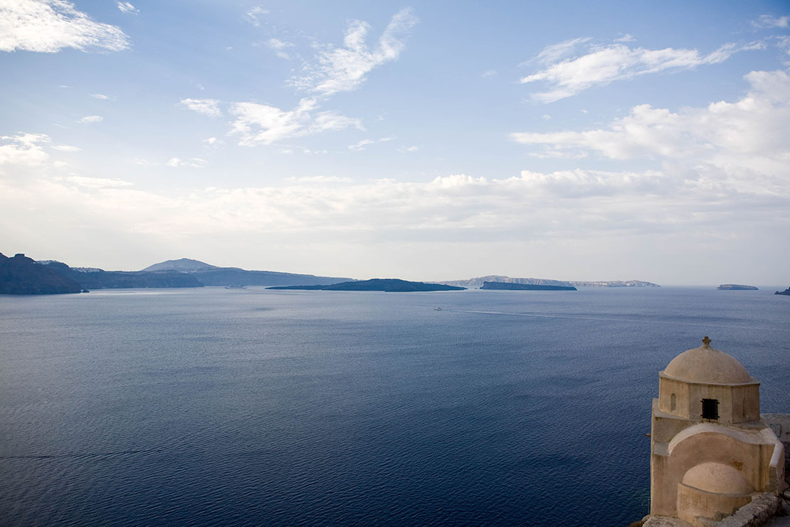 Caldera view from Oia village, Greece
