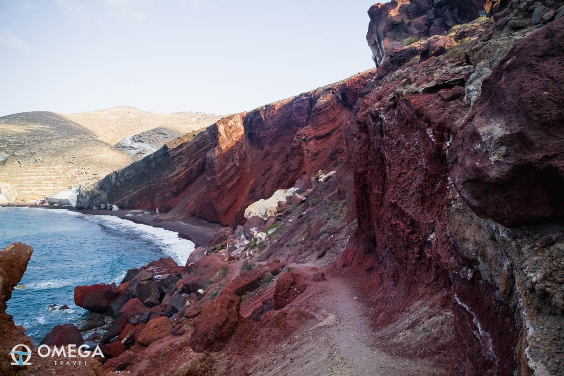 Red beach in Thira (Santorini) island, Greece