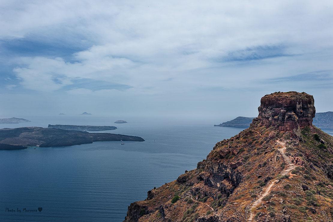 Holidays in Santorini, Skaros Rock in Imerovigli Village